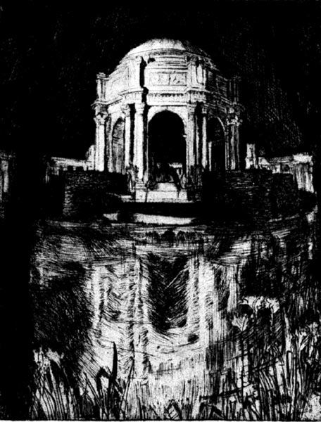 A Structure Brave - Palace of Fine Arts - From an etching by Gertude Partington