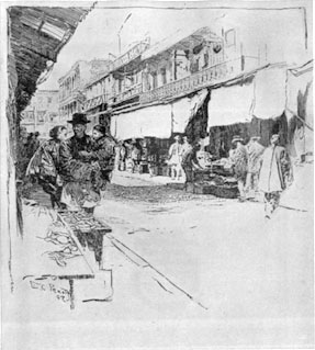 Drawing of Chinatown