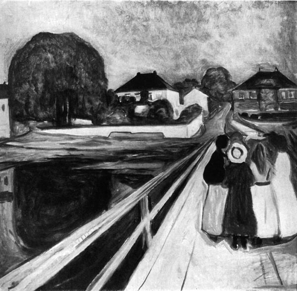 Summer Night: Aasgaardstrand. By Edvard Munch