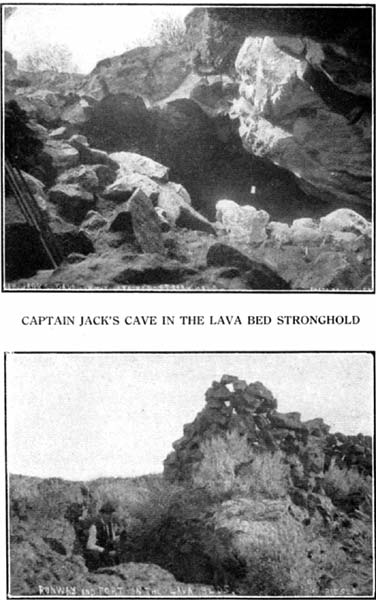 Runway and Fort in Lava Beds & Captain Jack's Cave in the Lava Beds