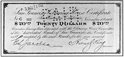$20.00 Clearing House Certificate