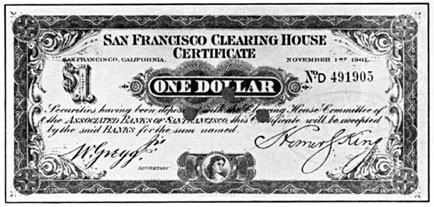 $1.00 Clearing House Certificate