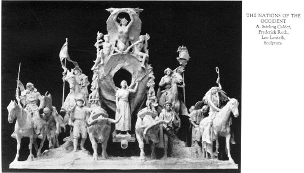 The Nations of the Occident - A. Stirling Calder, Frederick Roth, Leo Lentilli, Sculptors