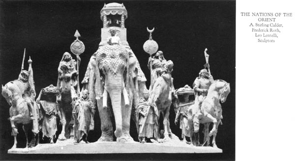 The Nations of the Orient - A. Stirling Calder, Frederick Roth, Leo Lentilli, Sculptors