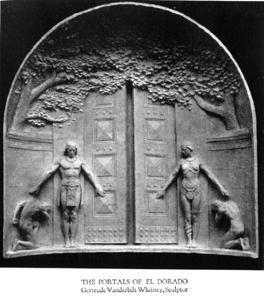 The Portals of El Dorado - Gertrude Vanderbilt Whitney, Sculptor